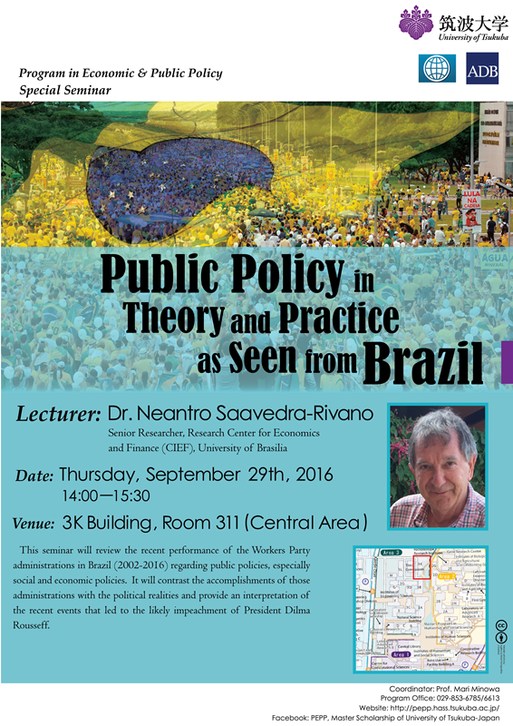Sep29_Dr. Saavedra_Public Policy in Theory and Practice as Seen From Brazil